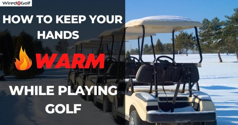 golfing in the cold